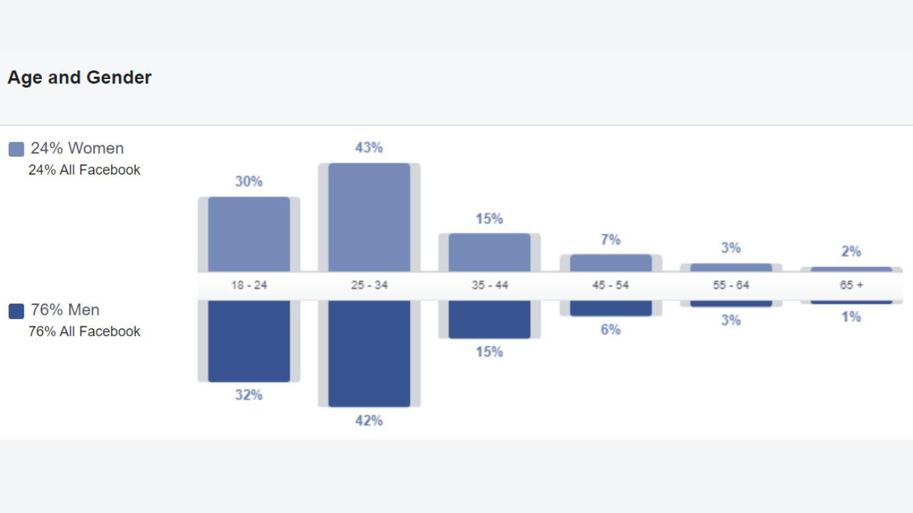 Facebook Advertising Demographic Reach
