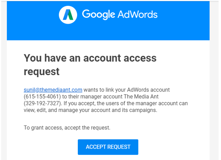 Google Display, Website Advertising Business Manager Access To Agency Step 3